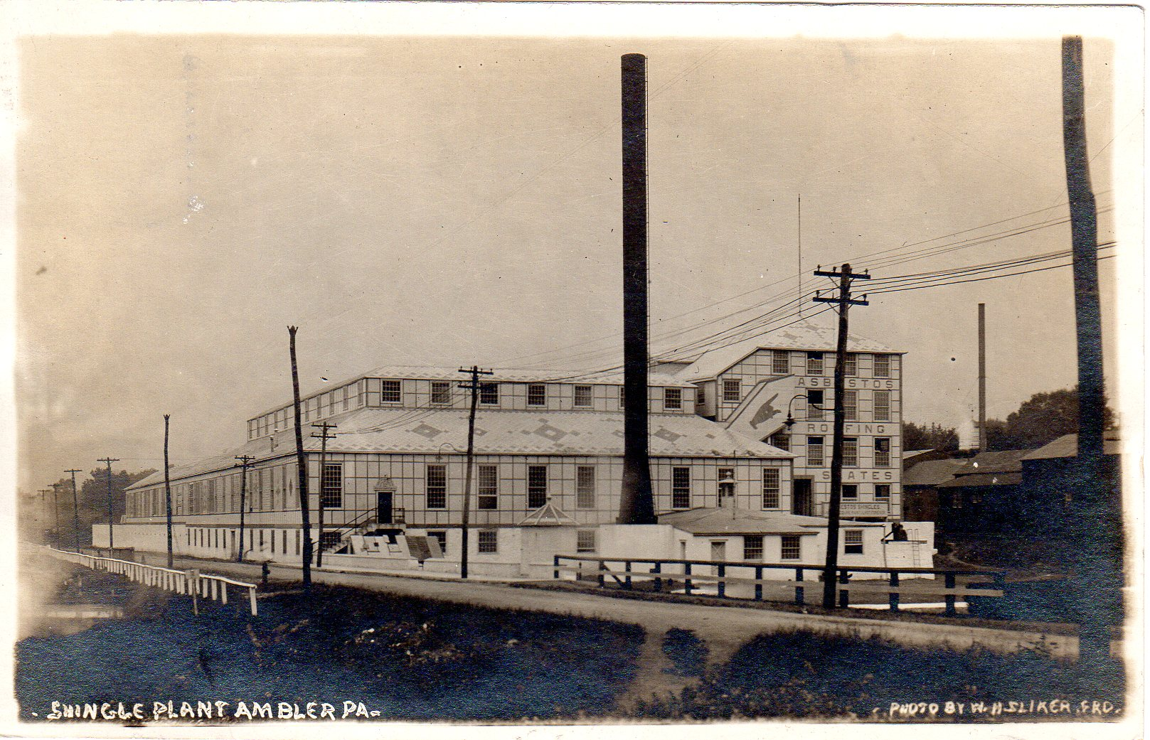 Post Card Collection (E Simon)_2682_63_Shingle Plant, Ambler, Pa