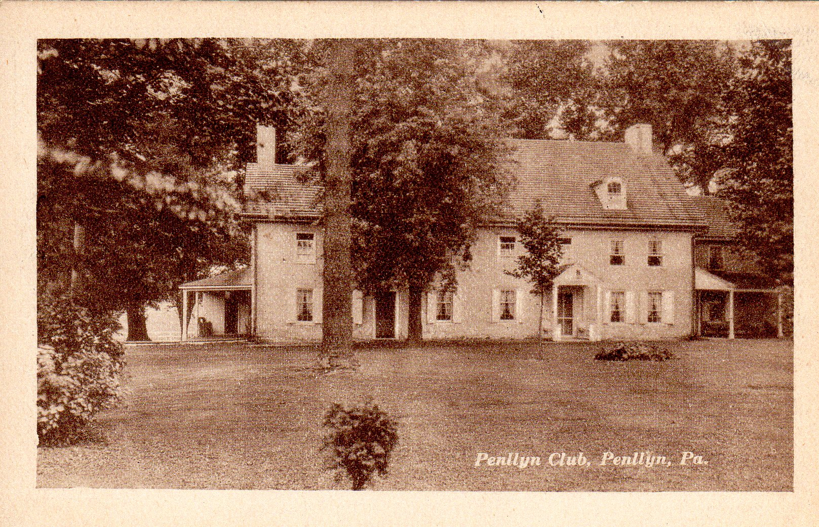 Post Card Collection (E Simon)_2682_69_Penllyn Club, Penllyn, Pa