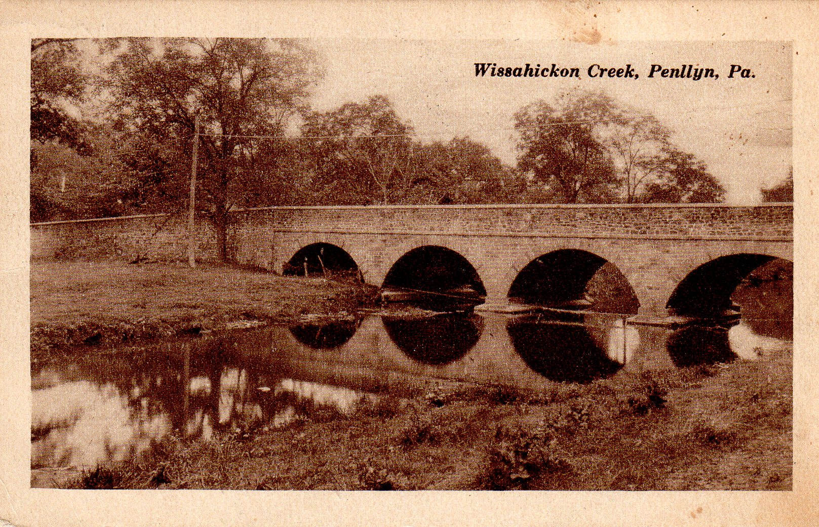 Post Card Collection (E Simon)_2682_72_Wissahickon Creek, Penllyn, Pa_Sep 1926