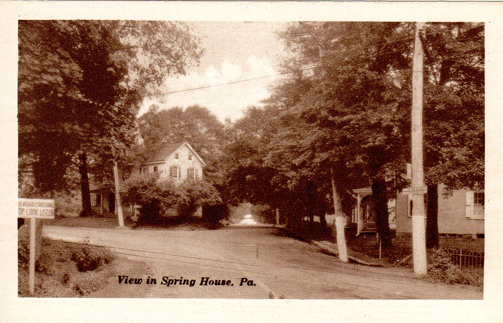 Post Card Collection (E Simon)_2682_75_View in Spring House, Pa