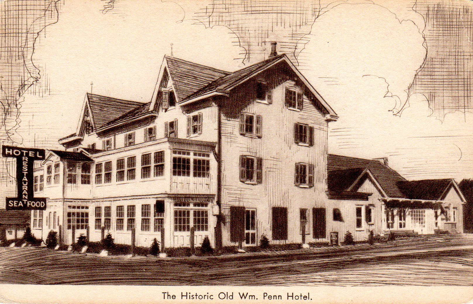 Post Card Collection (E Simon)_2682_84_The Historic Old William Penn Hotel