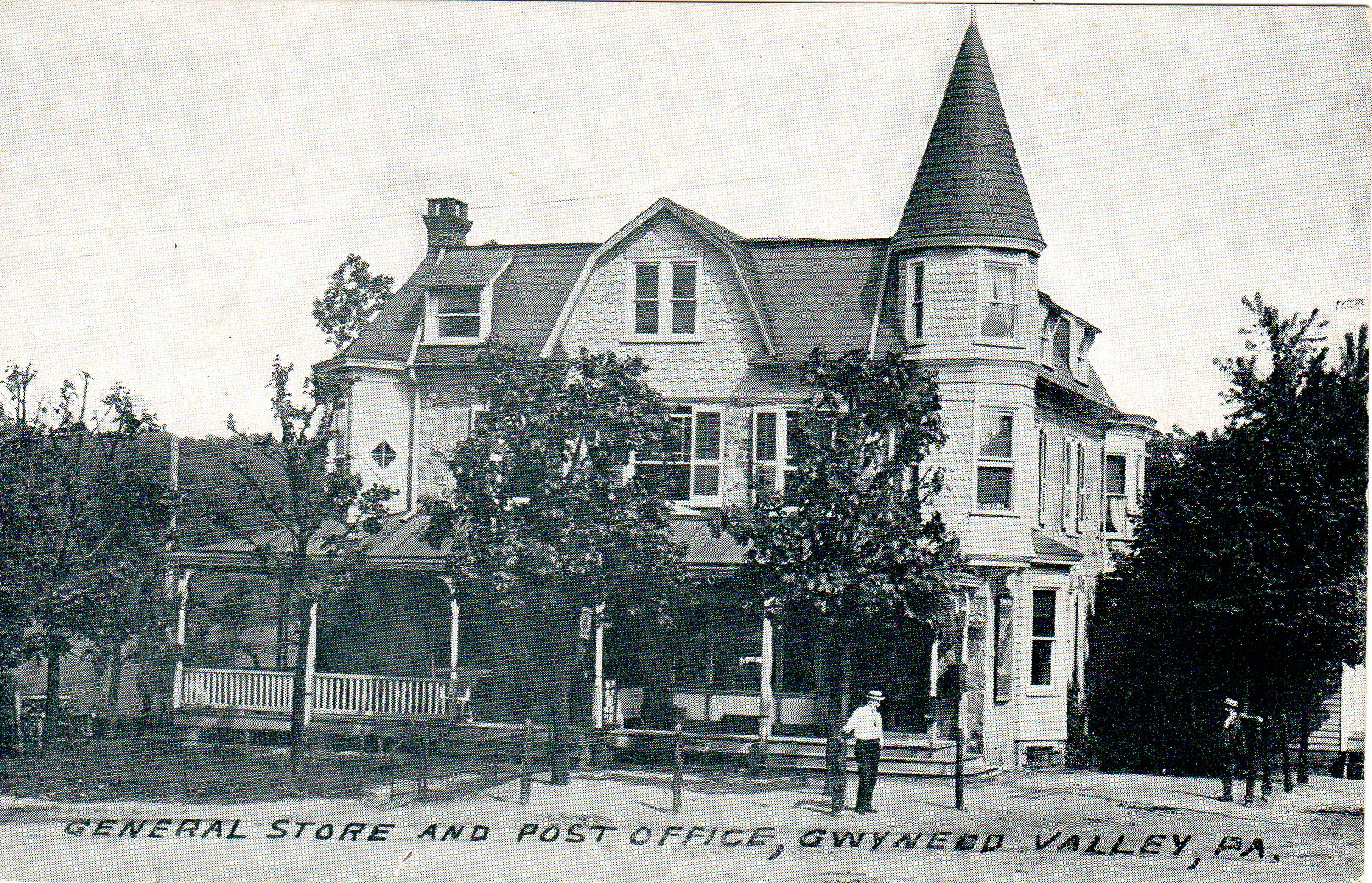 Post Card Collection (E Simon)_2682_85_General Store and Post Office, Gwynedd Valley, Pa