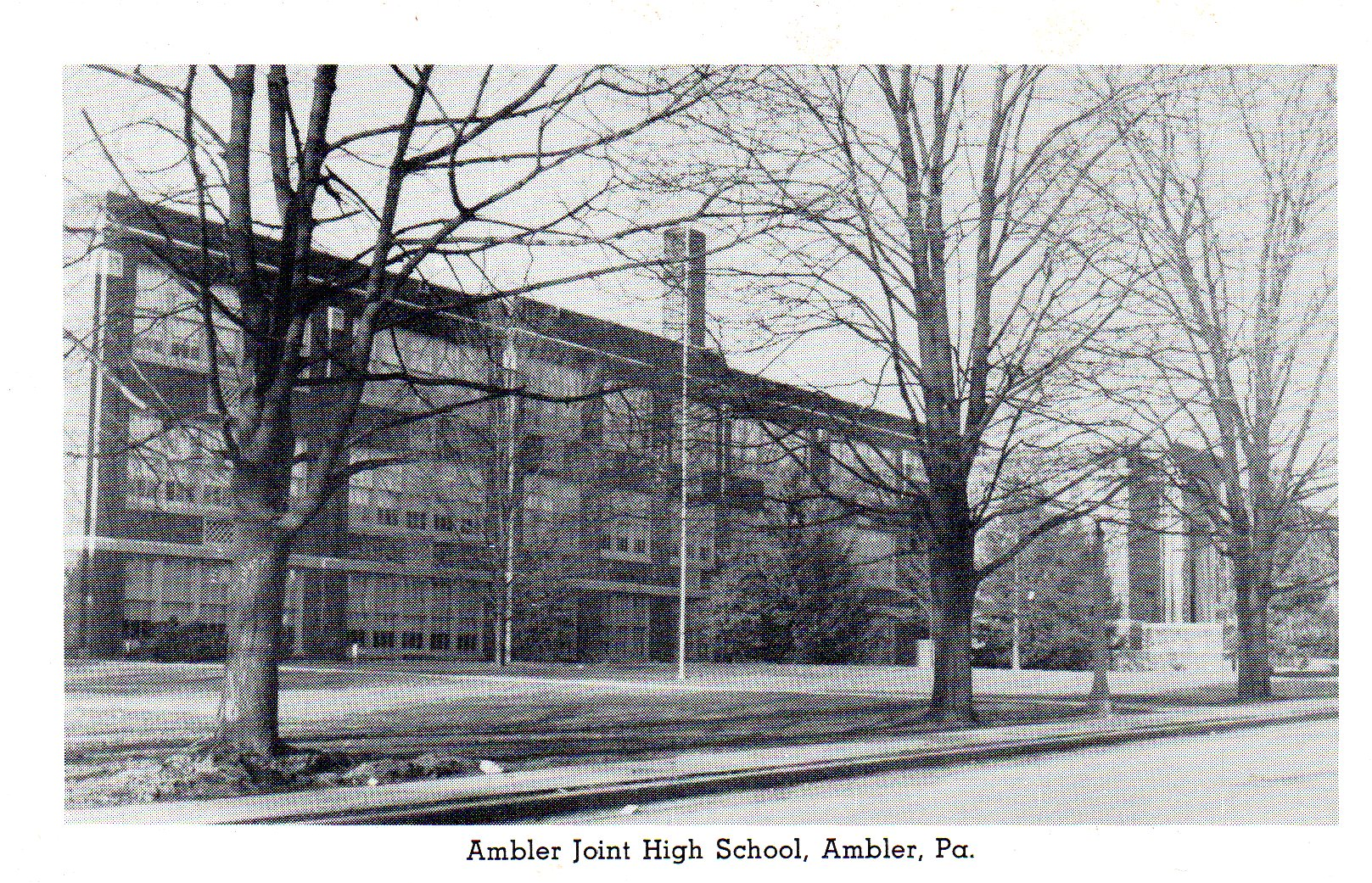 Post Card Collection (E Simon)_2682_88_Ambler Joint High School, Ambler, Pa