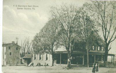 4500_006_Center Square Postcard_F C Bernhard General Store_Circa 1915