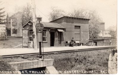 4500_013_Center Square Postcard_Lehigh Valley Trolley Station