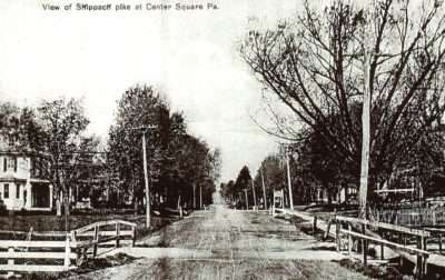 4500_014_Center Square Postcard_View of Skippack Pike Looking West