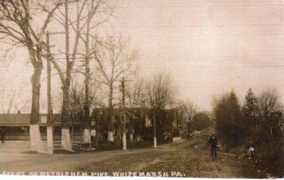 4500_079_Ft Washington PA Postcard_Scene on Bethlehem Pike