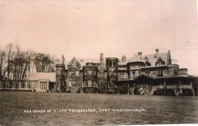 4500_080_Ft Washington PA Postcard_Residence of A Van Rensselaer