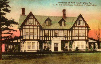 4500_081_Ft Washington PA Postcard_Private Residence, C E Schermerhorn, Architect
