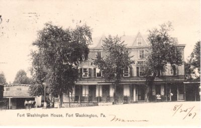 4500_087_Ft Washington PA Postcard_Ft Washington House_Circa 1907