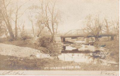 4500_089_Ft Washington PA Postcard_Bridge Over Sandy Run Creek_Circa 1907