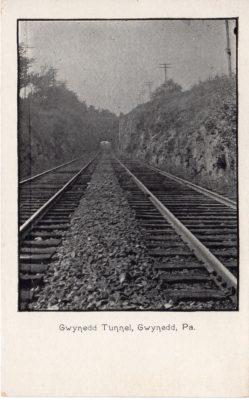 4500_211_Gwynedd Valley PA Postcard_Gwynned Valley P and R Railroad Tunnel
