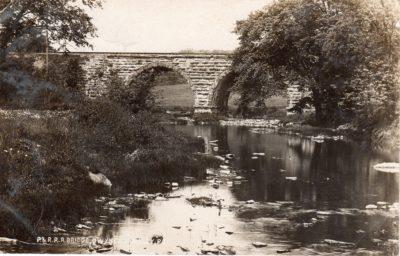 4500_213_Gwynedd Valley PA Postcard_P and R Railroad Bridge_Circa 1912