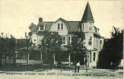 4500_214_Gwynedd Valley PA Postcard_General Store and Post Office