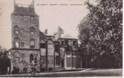4500_290_Doylestown PA Postcard_Dr Henry C Mercer's Fonthill
