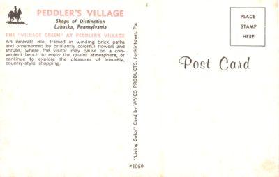 4500_294b_Doylestown PA Postcard_Peddler's Village, Lahaska, Pa