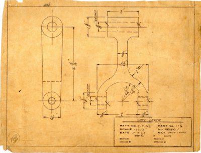 Marsden Glass Machinery Dwg #4128_33 Yoke Lever 11_7_1922
