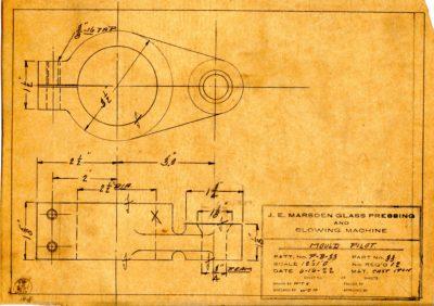 Marsden Glass Machinery Dwg #4128_40 Mold Pilot 6_16_1922