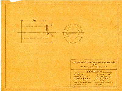Marsden Glass Machinery Dwg #4128_46 Eccentric 2_3_1922