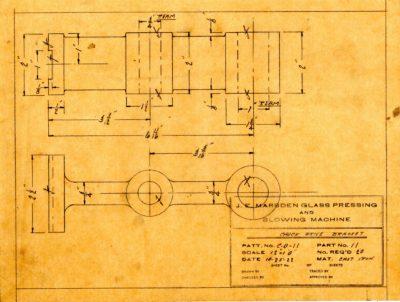 Marsden Glass Machinery Dwg #4128_48 Chuck Drive Bracket 10_25_1922