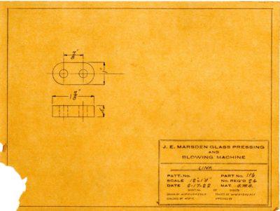 Marsden Glass Machinery Dwg #4128_49 Link 2_17_1922