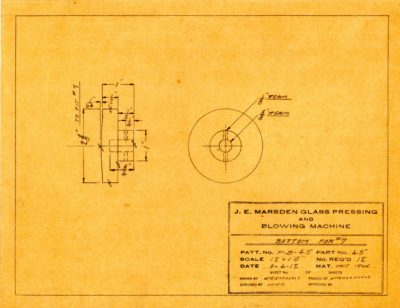 Marsden Glass Machinery Dwg #4128_56 Bottom for #7 3_4_1912
