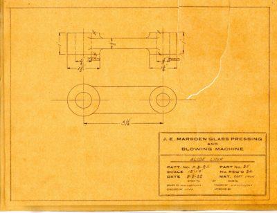 Marsden Glass Machinery Dwg #4128_58 Slide Link 2_2_1922